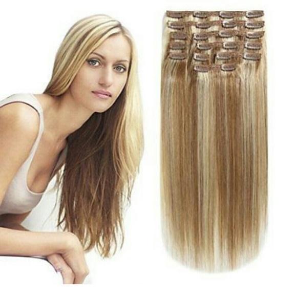 Accessories Blonde Mix Lightdark Blonde Human Hair Extensions